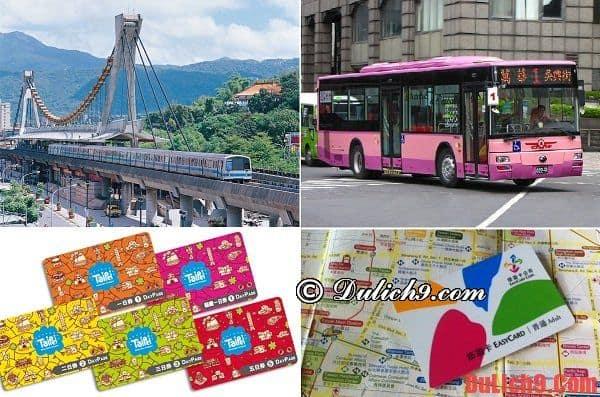 cẩm nang hướng dẫn cách di chuyển, đi lại và sử dụng phương tiện công cộng tham quan, du lịch Taipei