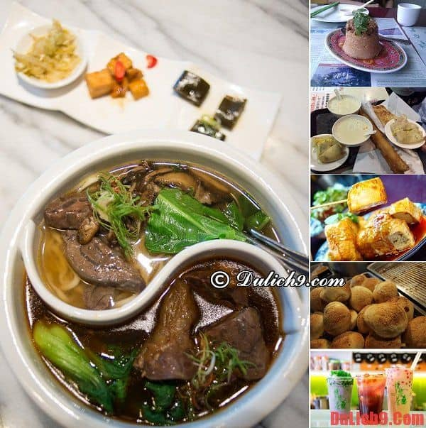 Địa chỉ ăn uống, thưởng thức đặc sản ngon, bổ, rẻ khi du lịch Taipei - Đài Bắc