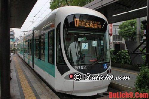 Cách di chuyển và phương tiện đi lại ở Hiroshima