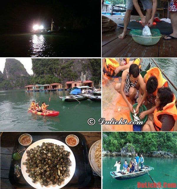 Lịch trình du lịch làng chài Vông Chiêng và Cửu Vạn trên Vịnh Hạ Long