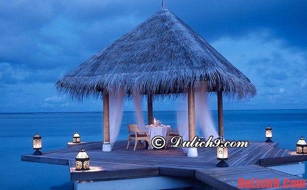 Nơi lưu trú khi du lịch Maldives