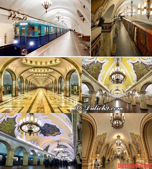 Các phương tiện di chuyển và kinh nghiệm đi lại tham quan, du lịch Moscow, Nga