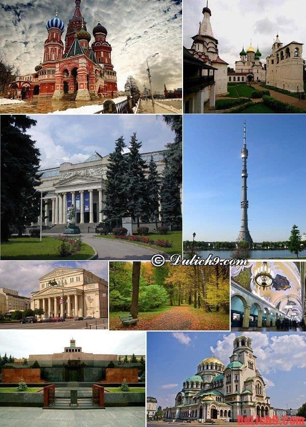 Những điểm tham quan hấp dẫn, độc đáo và nổi tiếng nên đến khi du lịch Moscow, Nga