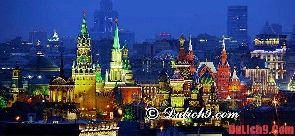 Kinh nghiệm du lịch Moscow, Nga tự túc, giá rẻ và vui vẻ