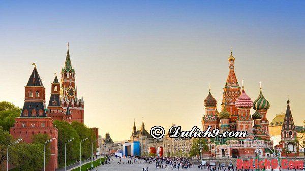Kinh nghiệm đặt vé máy bay du lịch Moscow mùa cao điểm du lịch
