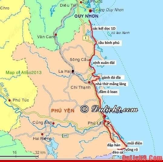 Tới Phú Yên bằng cách nào là gần, thuận tiện