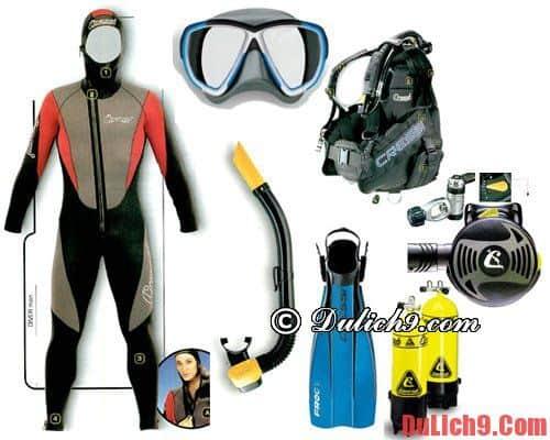 Những vật dụng cần có khi lặn biển