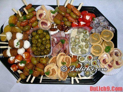 Những món ăn ngon Tây Ban Nha