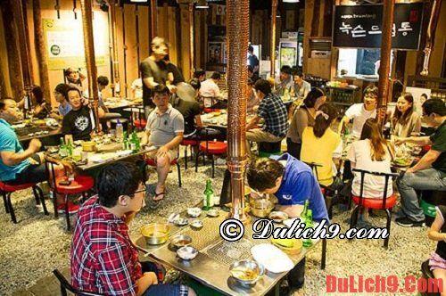 Nhà hàng ăn uống ngon, bổ và rẻ ở Busan