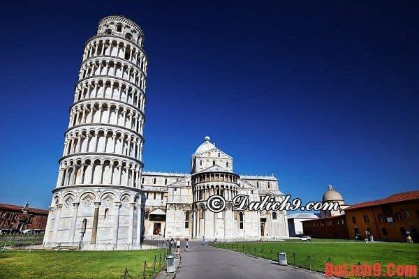 Tháp nghiêng Pisa - Địa danh tham quan du lịch nổi tiếng và độc đáo không thể bỏ lỡ khi du lịch Italia