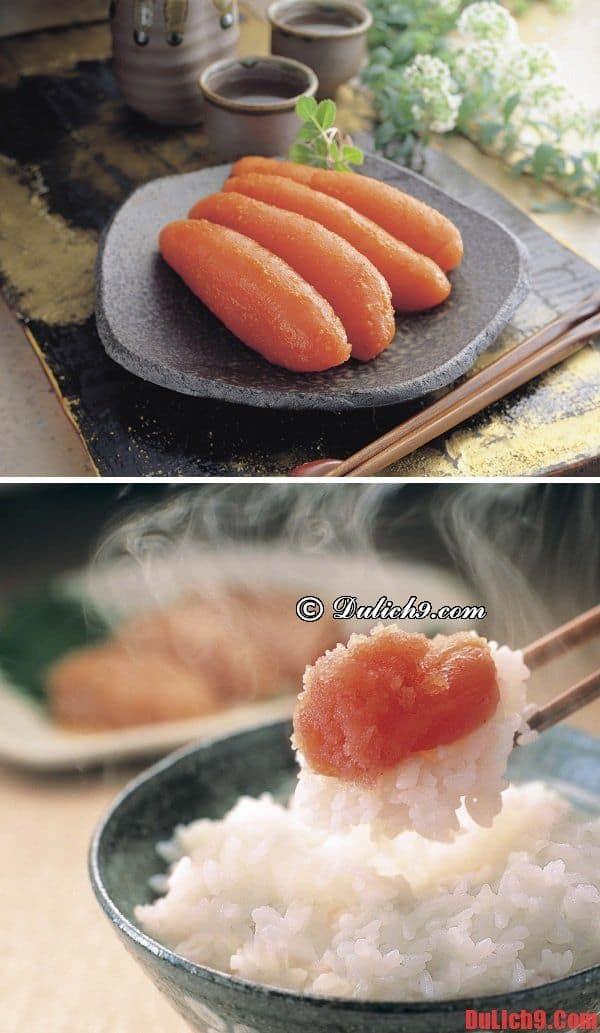 Mentaiko - Món ăn đường phố Fukuoka nhất định phải thử ăn một lần
