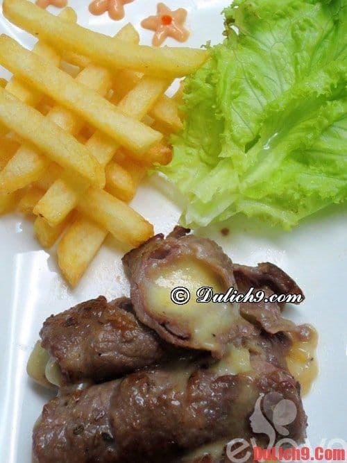 Bò cuộn phô mai nướng - Món ăn hấp dẫn không thể bỏ qua khi du lịch Sài Gòn ở quận 8