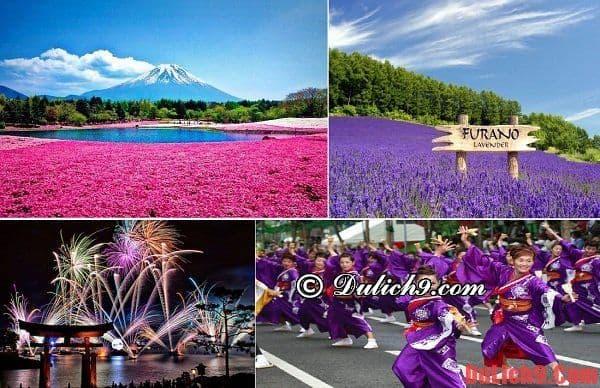 Tháng 8 du lịch lễ hội và leo núi Phú Sĩ ở Nhật Bản