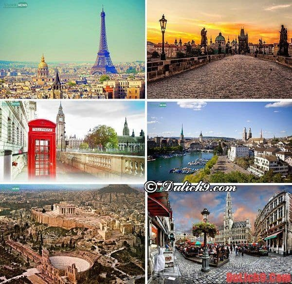 Những địa điểm du lịch Châu Âu nên đi trong tháng 8