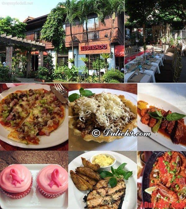 Nhà hàng Iiustrado - Du lịch manila, Philippines tự túc ăn uống tại nhà hàng được yêu thích nhất Manila