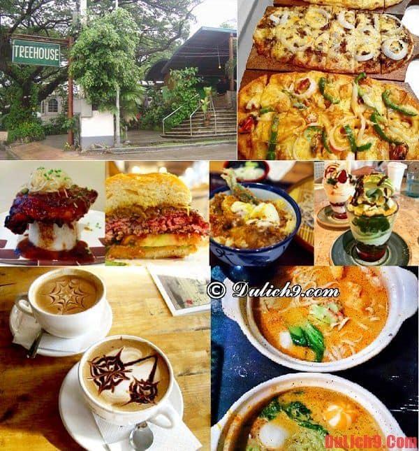 Nhà hàng Tree House - Địa chỉ ăn uống thú vị và độc đáo không thể bỏ qua khi du lịch Manila, Philippines tự túc ăn uống và khám phá những món ăn ngon