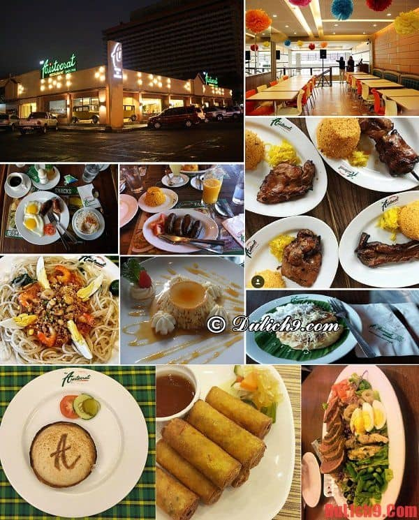 Nhà hàng Aristocrat - Địa chỉ nhà hàng ăn uống ngon, bổ, rẻ nổi tiếng ở Manila nhất định phải ghé qua