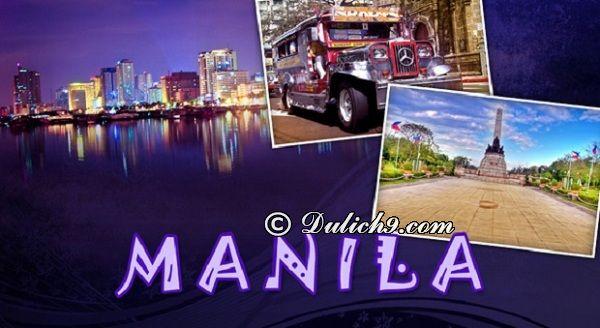 Kinh nghiệm du lịch Manila