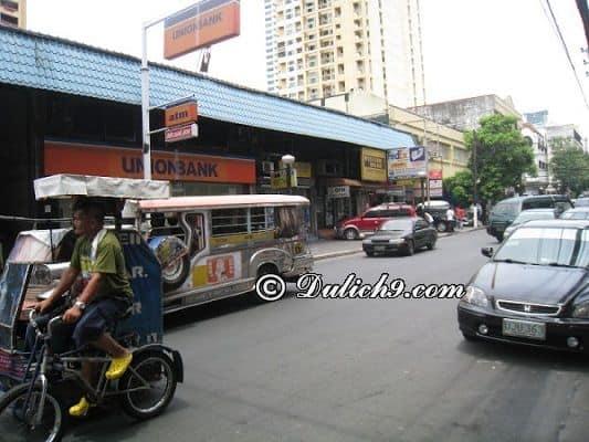 Phương tiện đi lại và di chuyển phổ biến ở Manila