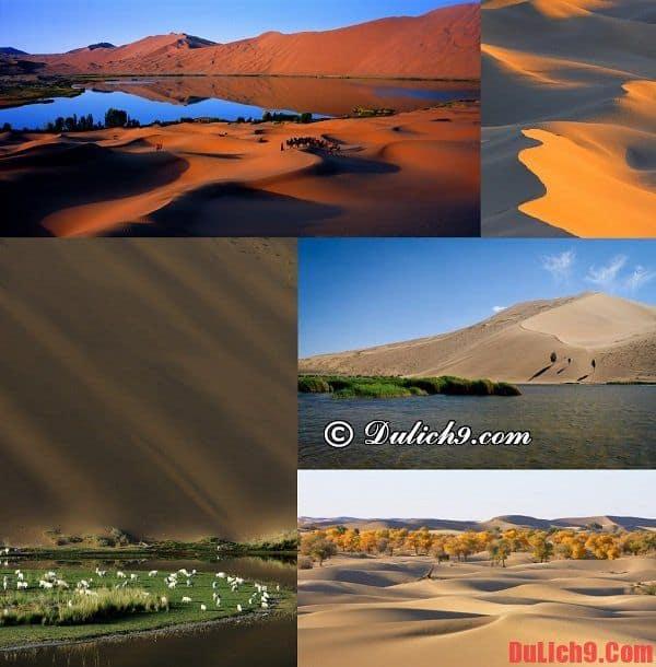 Sa mạc Badain Jaran - Du lịch Trung Quốc chiêm ngưỡng vẻ đẹp của sa mạc lớn nhất Trung Quốc