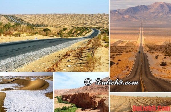 Sa mạc Taklamakan - Du lịch Trung Quốc và tham quan đường quốc lộ xuyên qua sa mạc dài nhất thế giới