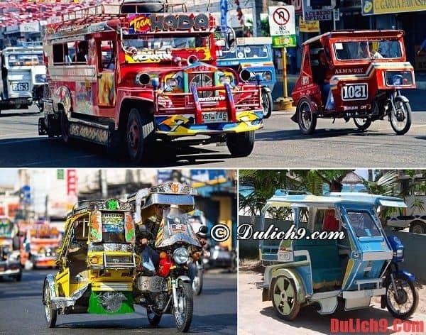 Những phương tiện di chuyển chủ yếu trên đảo Cebu