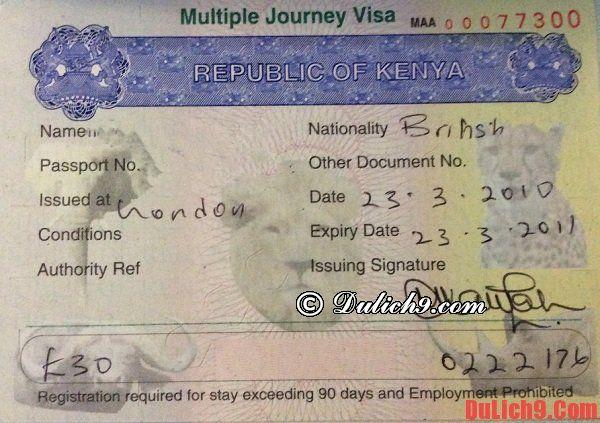 Tư vấn xin visa du lịch Kenya nhanh chóng và thuận lợi