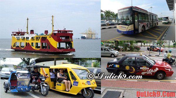 Các phương tiện di chuyển phổ biến ở Penang