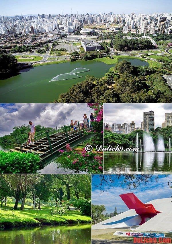 Công viên Ibirapuera - Địa điểm tham quan hấp dẫn nên đến một lần khi du lịch Sao Paulo
