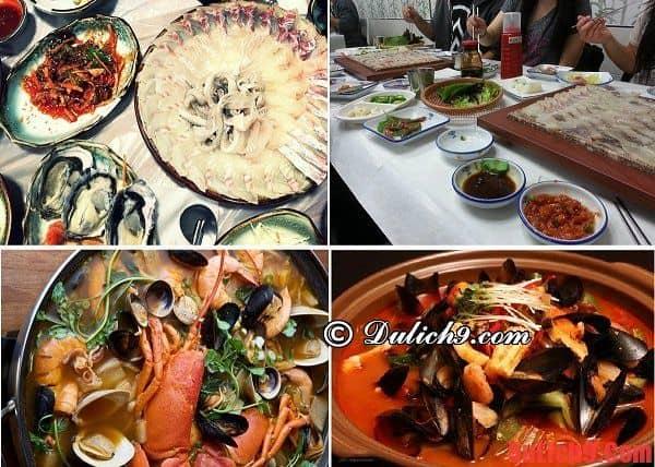 Phố Gỏi Cá Millak-dong ở Busan - Du lịch Busan, Hàn Quốc thưởng thức gỏi cá ngon ở khu ẩm thực nổi tiếng nào?