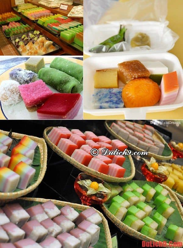 Bánh hấp Nyonya kuih - Món ăn vặt hấp dẫn được yêu thích, không thể không ăn khi du lịch và khám phá ẩm thực đường phố Kuala Lumpur, Malaysia