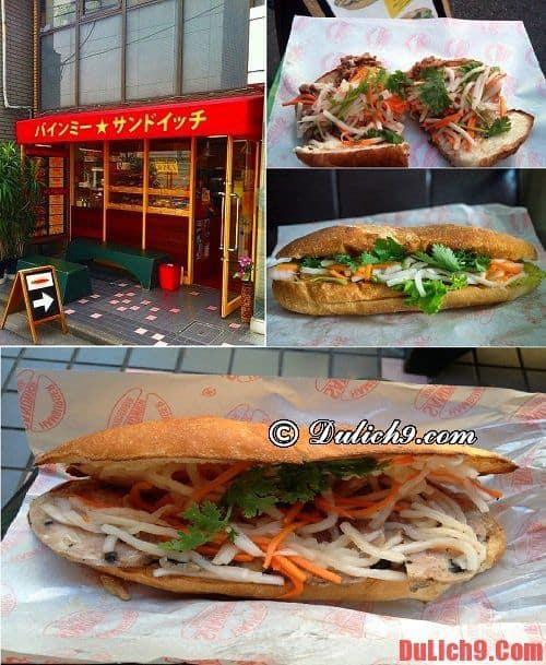 Banh mi Sandwich - Quán bánh mì Việt Nam ngon nổi tiếng nên đến một lần khi du lịch Nhật Bản