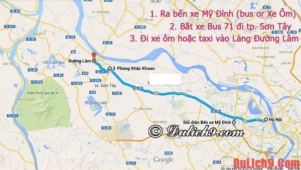 Hướng dẫn cách di chuyển tới Đường Lâm