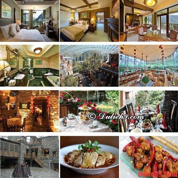 Khách sạn 5 sao độc đáo, hiện đại, dịch vụ tốt và gần điểm du lịch nên ở khi du lịch Cửu Trại Câu