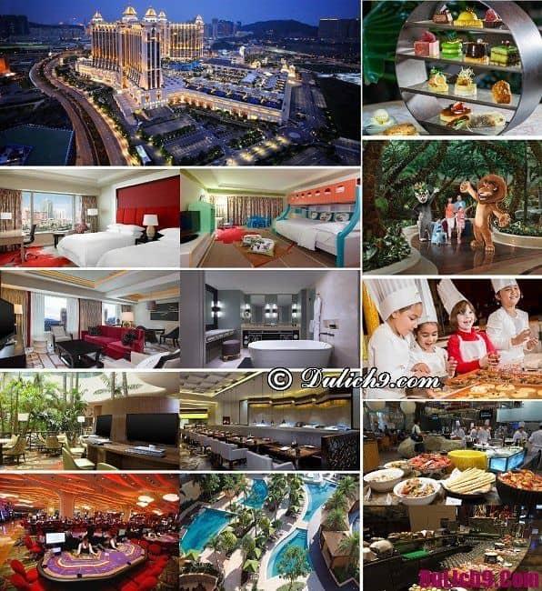 Khách sạn đẳng cấp đẹp, tiện nghi hiện đại, nổi tiếng được ưa chuộng và đặt phòng nhiều nhất ở Macao, Trung Quốc