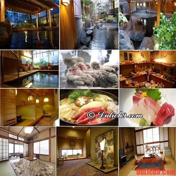 Khách sạn truyền thống độc đáo, tiện nghi và có suối nước nóng nổi tiếng được ưa chuộng nhất Nagano, Nhật Bản