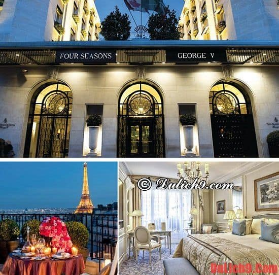 Khách sạn 5 sao ở Paris đẹp, tiện nghi đầy đủ. Nên ở khách sạn nào khi du lịch Paris? Khách sạn cao cấp ở Paris nên đặt phòng