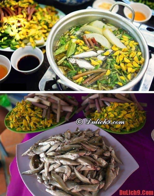 Lẩu cá linh bông điên điển - Đặc sản nổi tiếng Đồng Tháp mùa nước nổi không thể bỏ lỡ