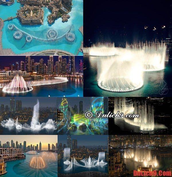 Du lịch Dubai chiêm ngưỡng vẻ đẹp hào nhoáng của đài phun nước Dubai