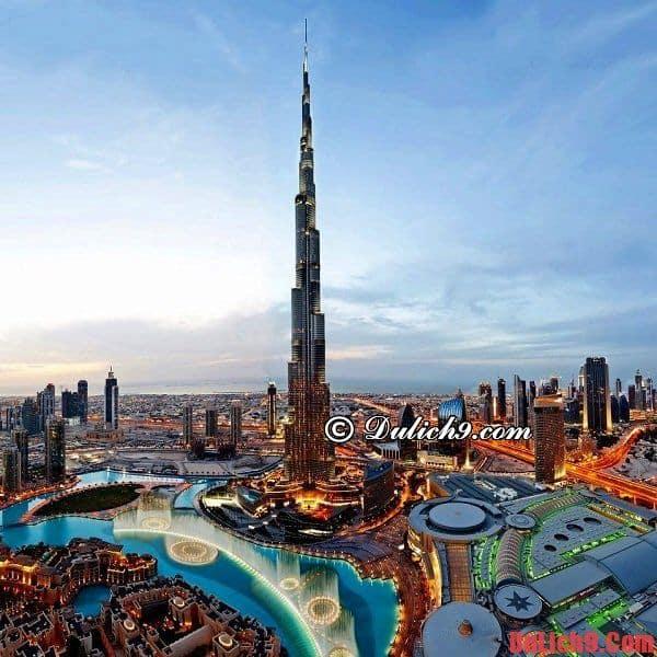 Burj Khalifa - Du lịch Dubai khám phá tòa tháp cao nhất thế giới