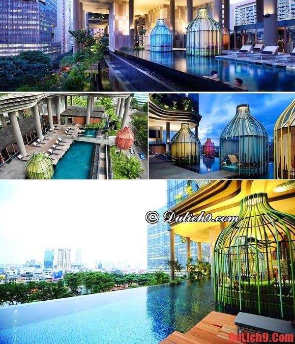 Khách sạn Singapore có hồ bơi lộ thiên độc đáo và lãng mạn nhất thế giới