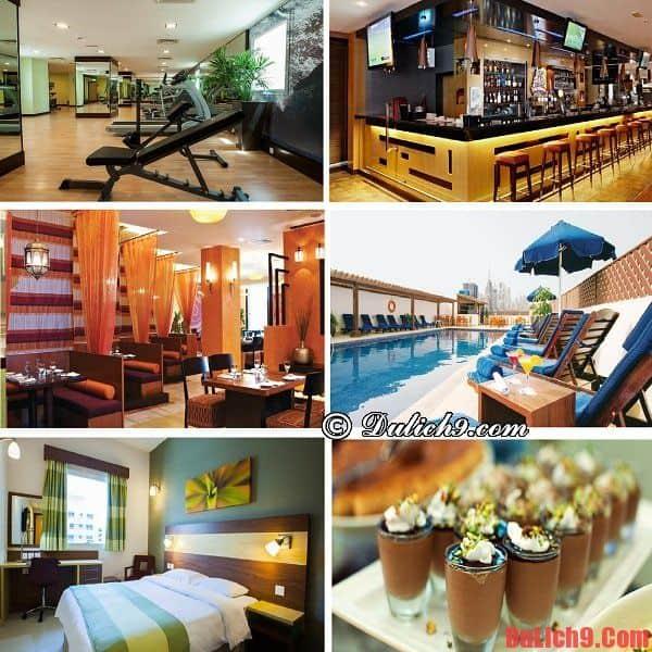 Khách sạn 3 sao đẹp, chất lượng, hiện đại, độc đáo, tầm nhìn tuyệt vời, gần trung tâm và điểm du lịch ở Dubai