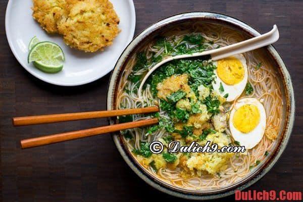 Mì Mohinga - Món ăn vỉa hè rất phổ biến ở Yangon, Myanmar