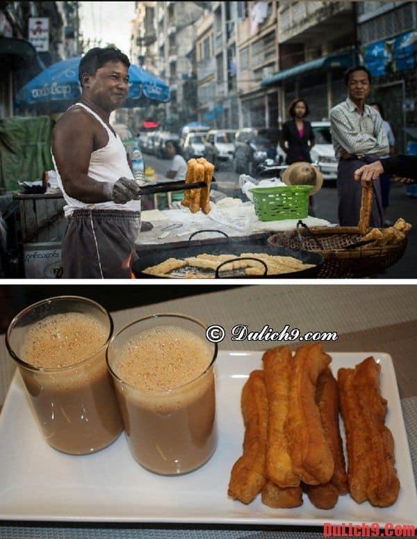 Quẩy E Kya Kway Món ăn đường phố Yangon nổi tiếng không thể bỏ lỡ khi du lịch Myanmar