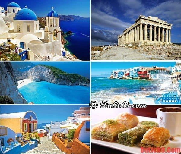 Hy Lạp - Địa điểm du lịch trăng mật nổi tiếng, độc đáo và thú vị nhất Châu Âu. Du lịch trăng mật ở Châu Âu nên đi đâu?