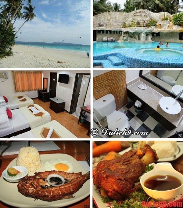 Khách sạn 3 sao đẹp, có bãi biển riêng, dịch vụ tốt, đồ ăn ngon, tầm nhìn đẹp được đặt phòng nhiều khi du lịch Boracay