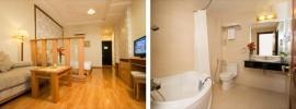 Khách sạn cao cấp, tiện nghi, hiện đại, đẹp, dịch vụ tốt, gần chợ Bến Thành, giá dưới 100 USD/đêm