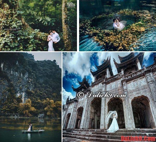 Những địa điểm chụp ảnh cưới đẹp ở miền Bắc. Địa điểm chụp ảnh cưới kết hợp du lịch đẹp, hấp dẫn, độc lạ và mới mẻ nhất ở miền Bắc