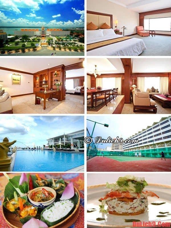 Khách sạn cao cấp gần trung tâm Phnom Penh có view đẹp, giao thông thuận tiện, dịch vụ tốt được khách du lịch Campuchia yêu thích. du lịch Phnom Penh nên ở khách sạn nào?