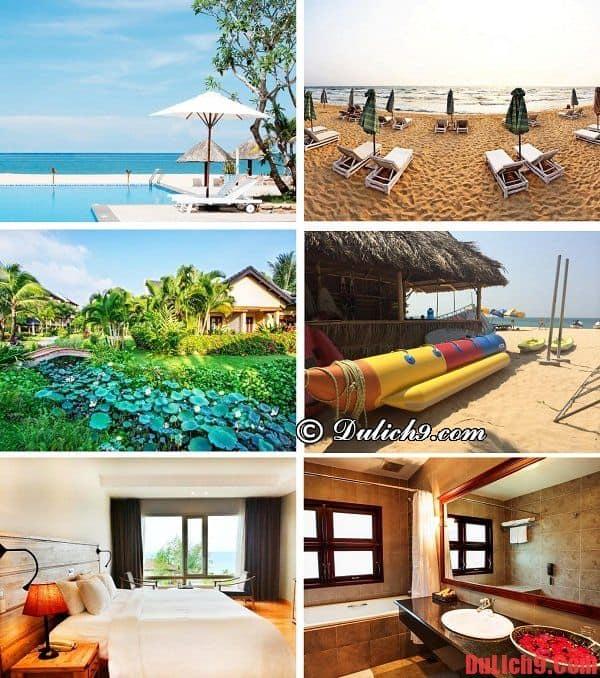 Khách sạn cao cấp đẹp, bãi biển riêng sạch sẽ gần biển Của Lấp nổi tiếng nên ở nhất
